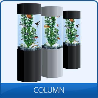 Column aquariums hire column aquariums aqualease for Column fish tank